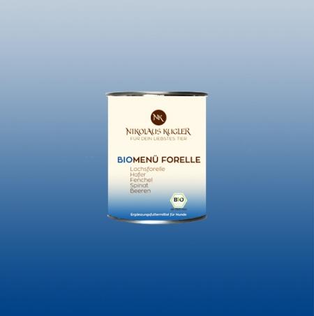 Nikolaus Kugler Bio Hundefutter BioMenu-Forelle 800g