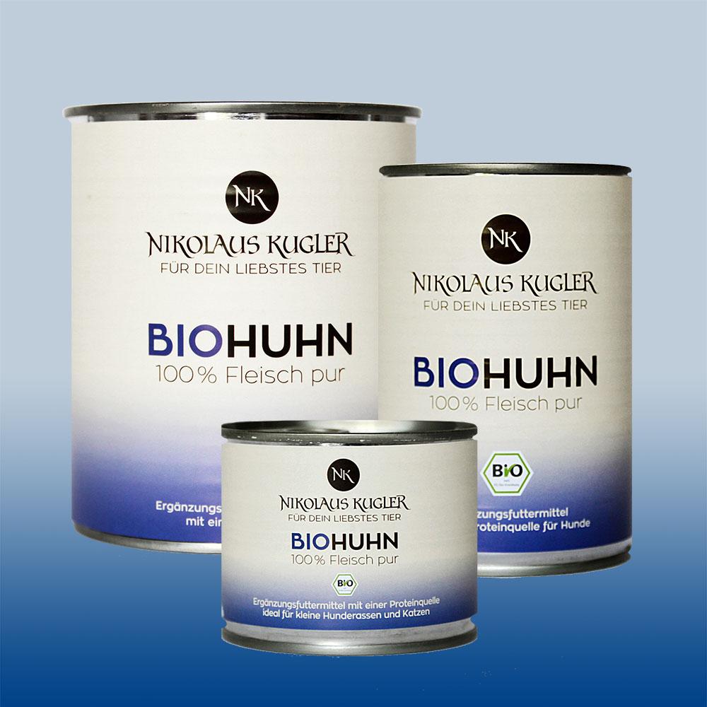 Nikolaus Kugler Bio Tiernahrung bio Hundefutter Bio Huhn pur 100% Hühnerfleisch