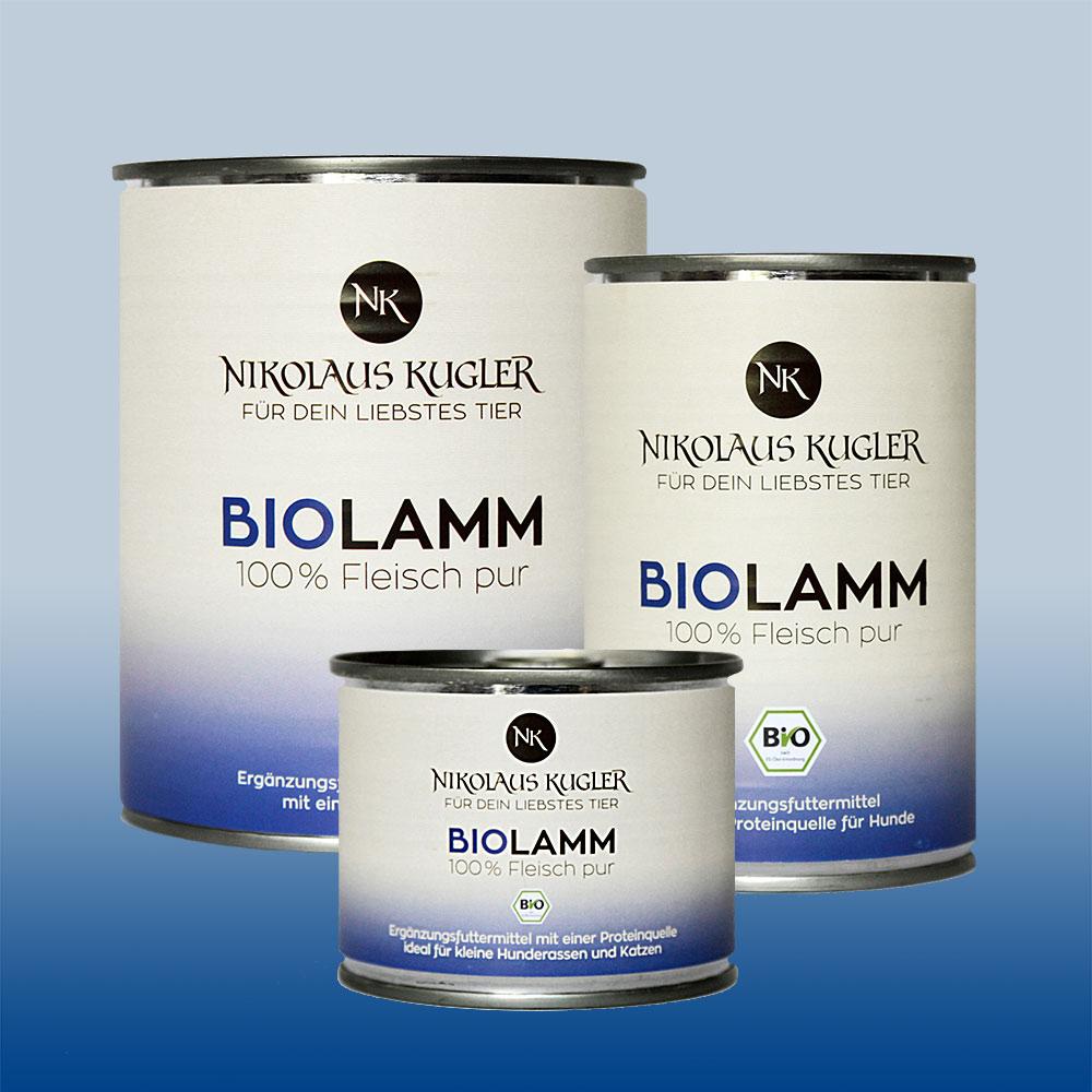 Nikolaus Kugler Bio Tiernahrung bio Hundefutter Bio Lamm pur 100% Lammfleisch
