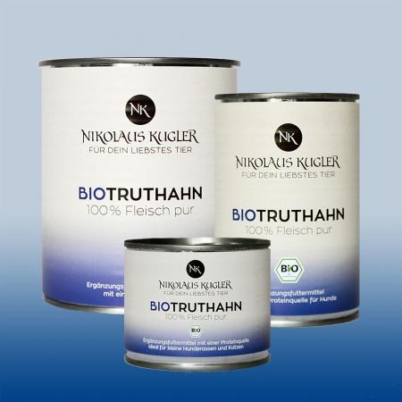 Nikolaus Kugler Bio Tiernahrung bio Hundefutter Bio Truthahn pur 100% Truthahnfleisch