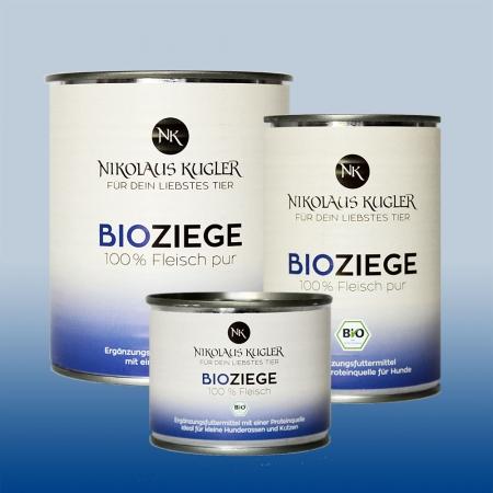 Nikolaus Kugler Bio Tiernahrung bio Hundefutter Bio Ziege pur 100% Ziegenfleisch