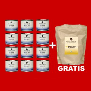 Sparpaket 12er Bio Huhn a 200g+gratis Kartoffelflocken 200g