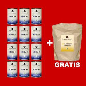 sparpaket 12er BioHuhn a 400g+gratis Kartoffelflocken