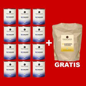 Sparpaket 12er BioHuhn a 800g+gratis Kartoffelflocken