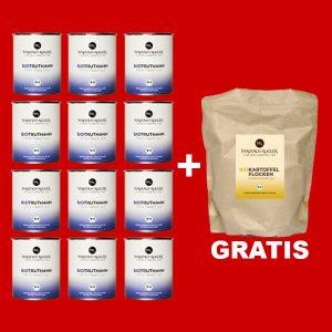 Sparpaket Nikolaus Kugler Bio Hundefutter 12er Bio Truthahn a 800g+gratis Kohlenhydrate