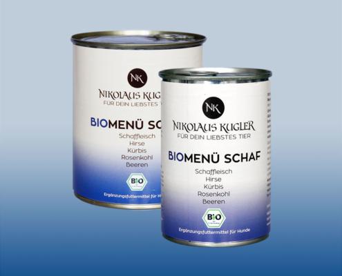 Nikolaus Kugler Bio Hundefutter Bio-Menue-Schaf_820g-410g