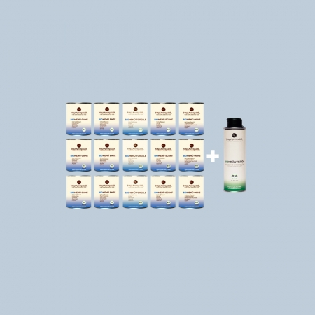 Nikolaus Kugler Bio Hundefutter Schlapp-Schlapp-Mix BioMenue-Paket-mit-Bio-Kräuteröl-250ml