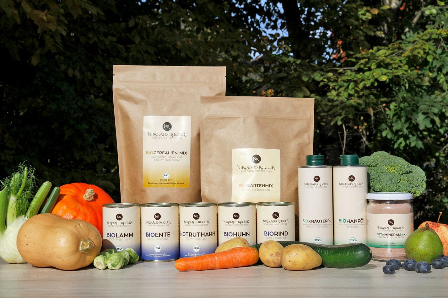 Nikolaus Kugler 4 Komponenten Bio-Hundefutter Prinzip - individuell erstellbares Ernährungskonzept